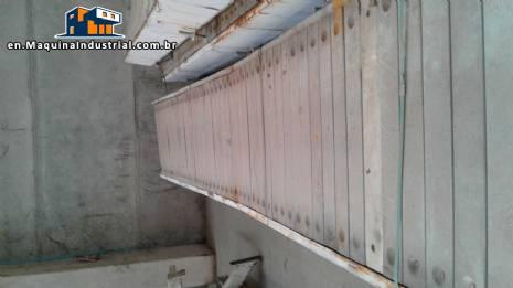 Conveyor belt with 50 meters for 100 kg / m²